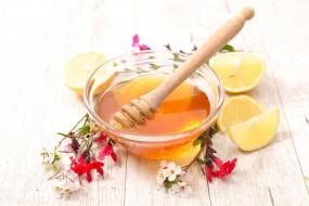 мед, лимон, цветочный