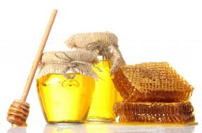 банки, ложка, соты, мед