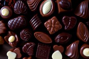 обои для рабочего стола 1920x1280 еда, конфеты,  шоколад,  сладости, ассорти, шоколадные