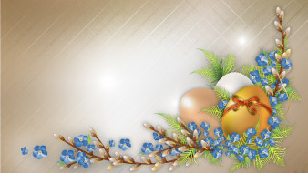 Пасха, верба, яйца