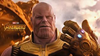 мстители война бесконечности, avengers infinity war, thanos, 2018, movies, джош бролин, постер, фантастика, боевик