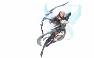 MU ORIGIN illust, крылья, фэнтези, Daeho Cha, Illustrator, арт, лучница