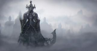 туман, фон, существо