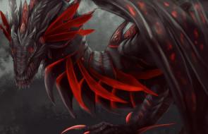 фэнтези, драконы, красный, взгляд, дракон, крылья, арт, лапы, фэнтази