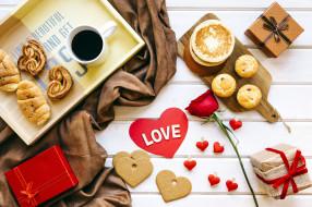 праздничные, день святого валентина,  сердечки,  любовь, роза, сердечки, подарки
