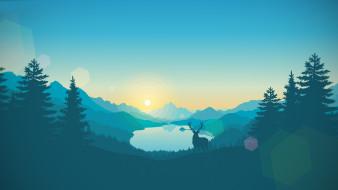 Пейзаж, Природа, Firewatch, Лес, Game, Горы