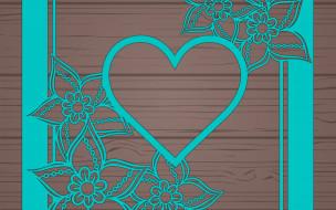 цветы, абстракция, wood, floral, текстура, abstract, сердечко