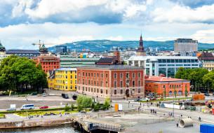 города, осло , норвегия, панорама
