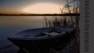 лодка, водоем