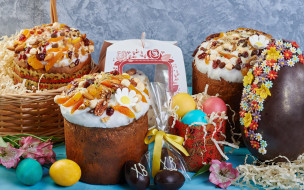 праздничные, пасха, декор, яйцо, куличи, крашенки