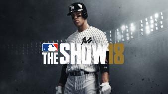 спортивный симулятор, постер, PlayStation 4, 2018, mlb the show 18