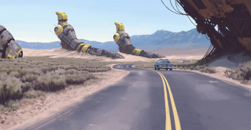 Рисунок, Art, Simon Stalenhag, Фантастика