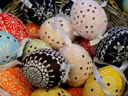 праздничные, пасха, яйца, кружевные