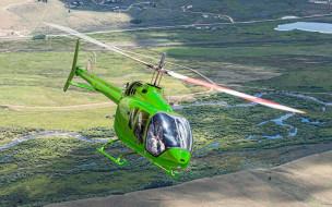 bell 505 jet ranger x, civil aviation, 4k, вертолет, bell, гражданская авиация, bell 505