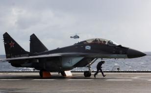 палуба, миг 29, вмф россии, истребитель, военная авиация