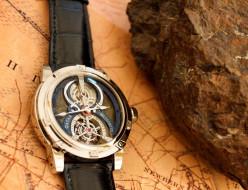 ремешок, белое золото, красный строматолит, бренд, кожа аллигатора, qatar tourbillon, наручные часы, louis moinet
