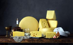 свеча, сыр, ассорти, книги, инжир