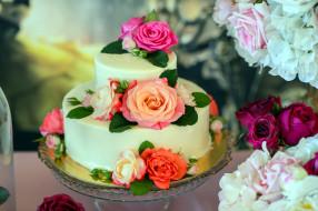 розы, торт