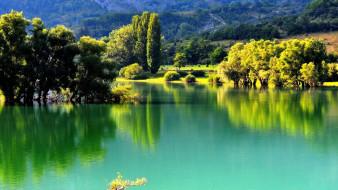 озеро, отражение