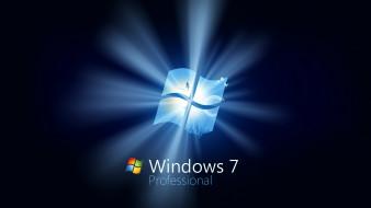 компьютеры, windows 7 , vienna, фон, логотип