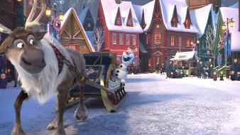 мультфильмы, olaf`s frozen adventure, olaf`s, frozen, adventure
