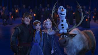 обои для рабочего стола 3000x1688 мультфильмы, olaf`s frozen adventure, olaf`s, frozen, adventure