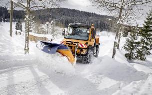 2018 спецтехника, снегоуборочная машина, Mercedes-Benz Unimog, U430