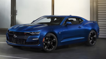 Camaro, SS, Coupe, 2019, Chevrolet, blue