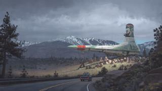 warmachines, горы, автомобиль, трасса, аппарат