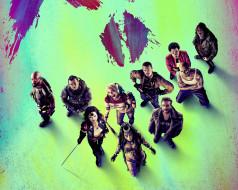Margot Robbie, Viola Davis, Swords, amanda waller, killer croc, Girls, captain boomerang, Suicide Squad, deadshot, Will Smith, Bad, rick flagg, Joel Kinnaman