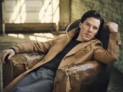 джемпер, брюки, пальто, поза, актер, Vanity Fair, Benedict Cumberbatch, Бенедикт Камбербэтч, Jason Bell, сидит, 2016, в кресле, фотосессия