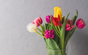 цветы, тюльпаны, colorful, fresh, весна, flowers, spring, букет, яркие, bright, tulips