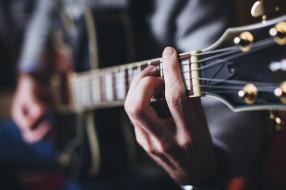 музыка, -музыкальные инструменты, руки, гитара