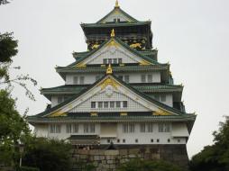 города, замки Японии, дворец, пагода, зелень