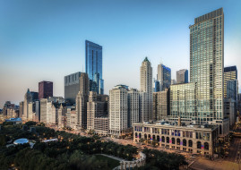 One Prudential Plaza, skyline, Chicago, США, Чикаго