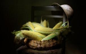 стул, кукуруза, шляпа