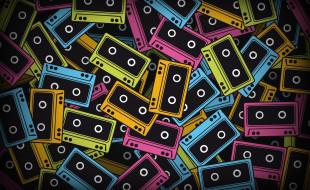 кассеты, россыпь, цвета