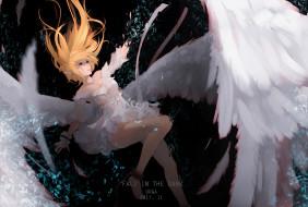 ангел, девушка, tagme artist, падение