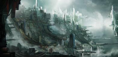 Sky slums, трущобы, город, Leon Tukker