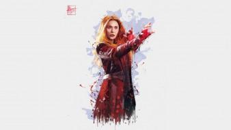 scarlet witch, элизабет олсен, 2018, мстители война бесконечности, artwork