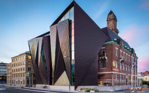современная архитектура, швеция, мировой морской университет, мальме