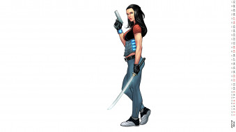 девушка, взгляд, оружие