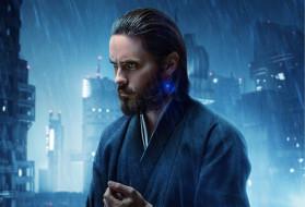 Jared Leto, мужчина, Бегущий по лезвию, Blade Runner 2049, город, огни, фантастика, дождь
