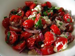 салат, овощной, помидоры, черри