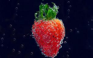 клубника, ягода, вода