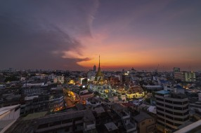город, вид, Таиланд
