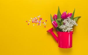 цветы, розовые, spring, flowers, букет, tulips, тюльпаны, pink, fresh