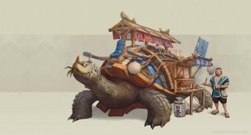 фэнтези, Jourdan Tuffan, лавка, арт, takoyaki, такояки, Takoyaki Turtle Truck