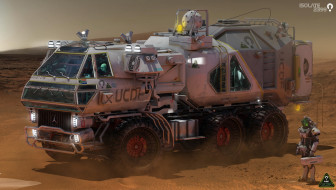 Isolate 2399 Rover, пустыня, автомобиль