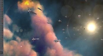 полет, облака, корабль